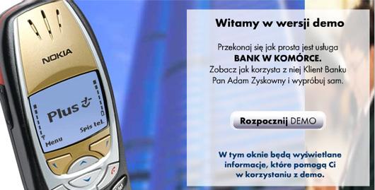 Demo usługi bank w komórce