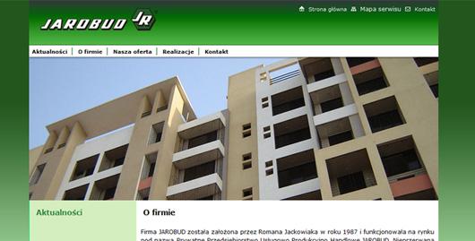 Serwis internetowy firmy budowlanej Jarobud