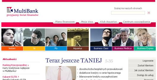 Projekt graficzny serwisu Multibank