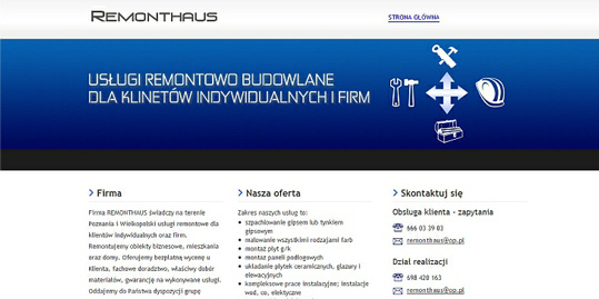 Strona www Remonthaus