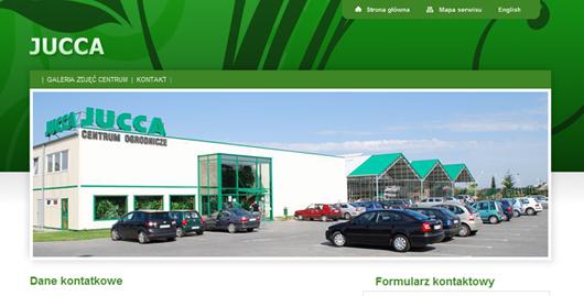 Serwis internetowy Centrum Ogrodniczego JUCCA