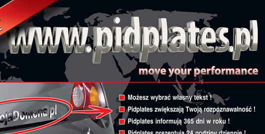 Projekt graficzny ulotki dla firmy PIDPLATES